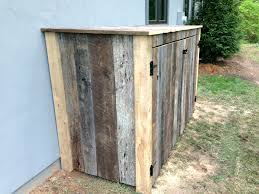 diy outdoor trash can cabinet diy projects