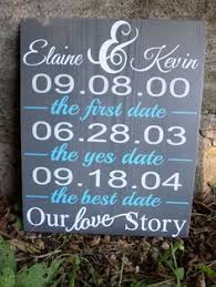 wedding gift name sign important dates family dates chalkboard custom by digitalprintshop