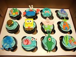 spongebob cake toppers spongebob and friends cupcakes s missing cupcakes