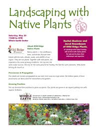 nj native plants upcoming events native plant sale the whole earth center of