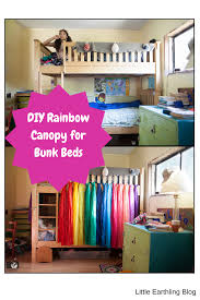 diy rainbow bed canopy for bunk beds this awesome diy rainbow canopy is quick and easy