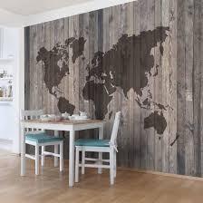 Norge Laminate Flooring Cutter Non Woven Wallpaper Wood World Map Mural Landscape Format