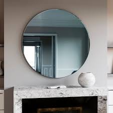 Round Mirrors Round Mirror Blue Round Art Deco Wall Mirror Made With