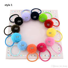 rubber bands rings images Diy pom pom hair rubber band elastic colorful hair rope rings ties jpg