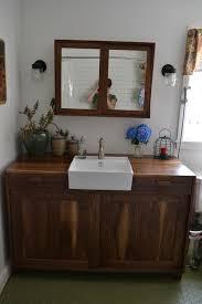 Walnut Vanity Coral St Bathroom U2013 Brass Tacks Home