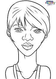 rihanna coloring page u2013 coloring pages u2013 original coloring pages