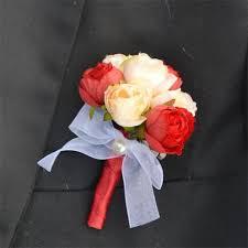 wedding flowers groom 1 pieces lot diy silk flower groom best boutonniere