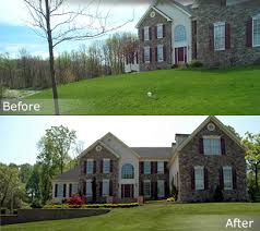 Backyard Renovations Before And After Garden Design Garden Design With Atlanta Landscaping Before And