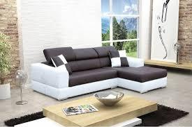 canapé design d angle madrid iv cuir pu noir et blanc canapés d