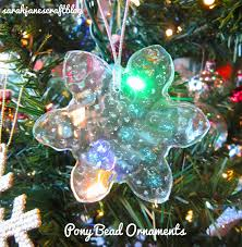 s craft melted pony bead ornaments