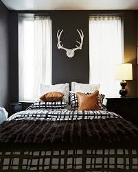 Modern Bedrooms For Men - bedroom mens bedroom design with black walls feat white antlers