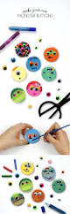 monster buttons kids halloween craft idea persia lou
