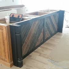 diy u201creclaimed wood u201d on kitchen island cleverly inspired