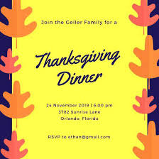 free thanksgiving invitation templates email invitations with