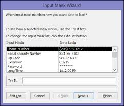 Count Characters In Access Data Entry Formats With Input Masks Access