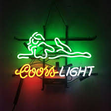 coors light bar sign 17x14 coors light store real glass neon sign beer sports