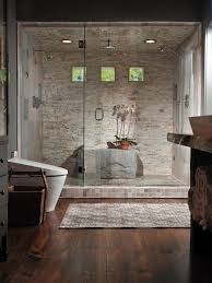 Gray And Brown Bathroom by Bathroom White Mirror Gray Wall Lamp White Bathtubs Modern
