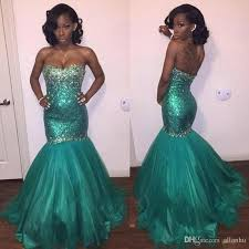 2017 turquoise prom dresses mermaid with crystal beading evening
