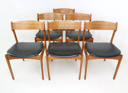 Set Of Six Danish Teak Dining Chairs Designed By Erik Buch For OD - Designed chairs