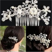 women s hair accessories wedding bridal hair comb pearl flower design hair