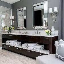 Gray Bathroom Cabinets Best 25 Dark Wood Bathroom Ideas On Pinterest Decorative Stones
