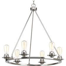 Progressive Lighting Chandeliers Progress Lighting Debut Collection 6 Light Brushed Nickel