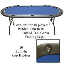 poker table with folding legs folding leg poker table with built in cup holders blue