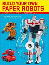 build paper robots 100s mecha model designs cd