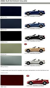 2006 cadillac xlr exterior and interior color combinations