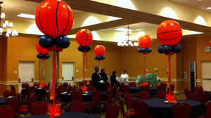 basketball centerpieces basket balloon centerpieces