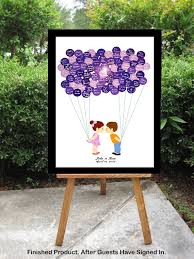 wedding guest sign in modern guest book alternative balloon sign in registry unique