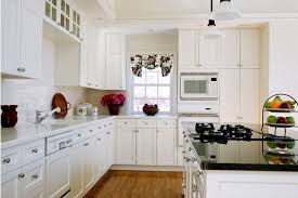 Painting Kitchen Cabinets Antique White Decorating Your Home Wall Decor With Unique Fresh Paint Kitchen