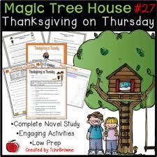 magic tree house 27 thanksgiving on thursday novel study by