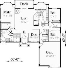 One Story House Plans With Basement Country Style House Plans 1217 Square Foot Home 1 Story 3
