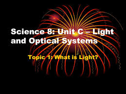 what is light in science science 8 unit c light and optical systems topic 1 what is light