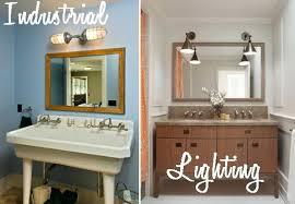 Industrial Bathroom Vanity Lighting Vanities Industrial Bathroom Vanity Lighting Industrial Bathroom