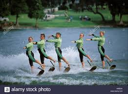 florida winter haven cypress gardens water ski show stock photo