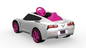 barbie corvette power wheels girls u0027 corvette 6v battery powered ride on walmart com