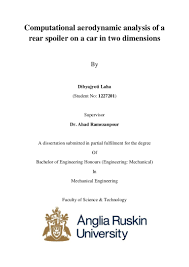 ansys fluent cfd final year thesis