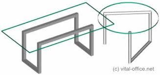 design glastisch vital office circon executive desk in bauhaus glas design
