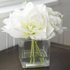 white flower arrangements artificial flower arrangements you ll wayfair