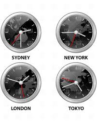 Time Zone Map World Clock by Usa Time Zone Map Timezone Map Vector Color Illustration Stock
