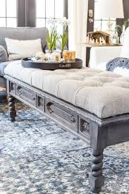 Diy Ottoman Coffee Table Diy Ottoman Bench From A Repurposed Coffee Table Bless Er House