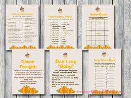 Pumpkin Baby Shower Ideas - printable baby shower games page 2 magical printable