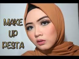tutorial make up wardah untuk pesta belajar makeup pesta tutorial hijab pesta ayyunazzuyyin