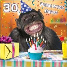 penblwydd hapus 30 welsh happy 30th birthday card welsh gifts