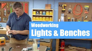 set up a woodworking shop lights benches u0026 accessories youtube