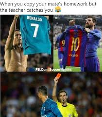 soccer memes cristiano s messi imitation facebook