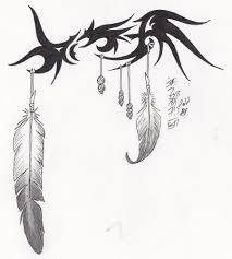 tribal eagle feather tattoo design by syrazel deviantart