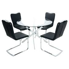 round table with chairs black glass round table lesdonheures com